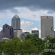 Indianapolis Skyline Storm 3 Art Print by David Haskett