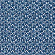 Indigo And White Small Diamonds- Pattern Art Print