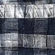 Indigo Squares 1 Of 5 Art Print