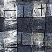 Indigo Squares 3 Of 5 Art Print