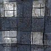 Indigo Squares 5 Of 5 Art Print