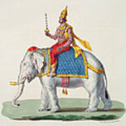 Indra Or Devendra, From Linde Art Print
