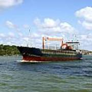 Industrial Cargo Ship Art Print