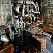 Industrial Gear Cutting Machine Art Print