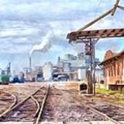 Industrial Railroad Scene  Art Print