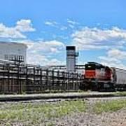 Industrial Train Art Print