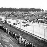 Indy 500 Auto Race Art Print