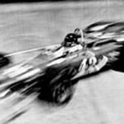 Indy 500 Race Car Blur Art Print