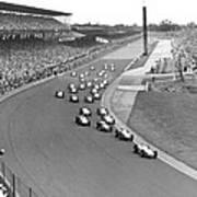 Indy 500 Race Start Art Print