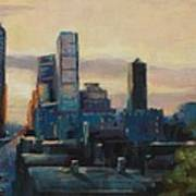 Indy City Scape Print by Donna Shortt