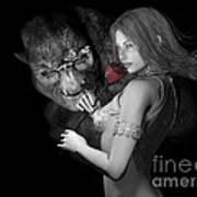 Infatuated  Roses Art Print