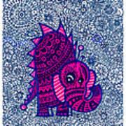 Infinite Pachyderm  Art Print