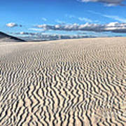 Infinite Sand Patterns Art Print