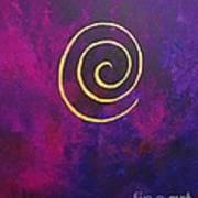Infinity - Deep Purple With Gold Art Print