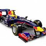 Infinity Red Bull Rb9 Formula 1 Race Car Art Print