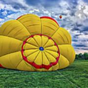 Inflating The Hot Air Balloon Art Print
