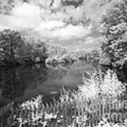 Infrared Mill Pond Art Print