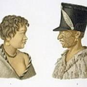 Inhabitants Of New Zealand, 1826 Art Print