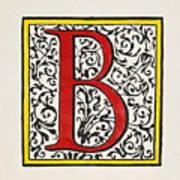 Initial 'b', C1600 Art Print