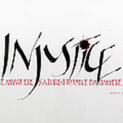 Injustice Art Print by Nina Marie Altman