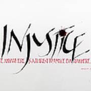 Injustice Art Print