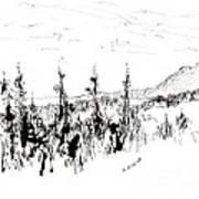 Ink Sketch Art Print