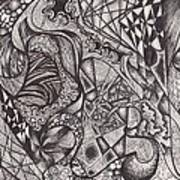 Ink Unfolding Art Print