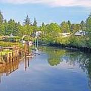 Inlet Of The Columbia River At Skamokawa Washington Art Print