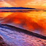Inlet Sunset Art Print