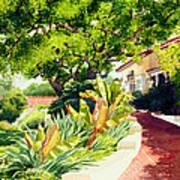 Inn At Rancho Santa Fe Print by Mary Helmreich