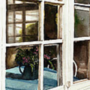 Inn Window Art Print