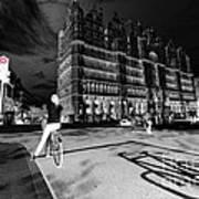 Inner City Cycling  Art Print