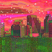 Inner City - Night Falls Art Print by Wendy J St Christopher