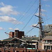 Inner Harbor At Baltimore Md - 12128 Art Print