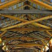 Inside A Covered Bridge 3 Art Print