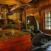 Inside A Grist Mill Art Print