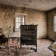 Inside Abandoned House Photos - Old Room - Life Long Gone Art Print