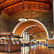 Inside Los Angeles Union Station Art Print