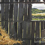 Barn -inside Looking Out - Summer Art Print