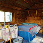 Inside Savage River Cabin In Denali Np-ak   Art Print