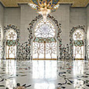 Inside Sheikh Zayed Grand Mosque - Abu Dhabi Art Print
