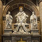 Inside St Peters Basiclica - Vatican Rome Art Print