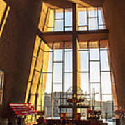 Inside The Chapel Of The Holy Cross Art Print