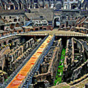 Inside The Colosseum I I Art Print