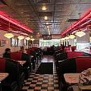 Inside The Diner Art Print by Randall Weidner