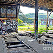 Inside The Old Train Roundhouse At Bayshore Near San Francisco And The Cow Palace Iv Art Print