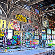Inside The Old Train Roundhouse At Bayshore Near San Francisco And The Cow Palace V  Art Print