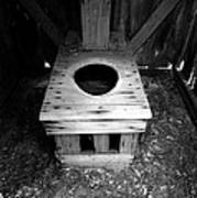 Inside The Outhouse Art Print