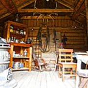 Inside The Real Sam Mcgee's Cabin In Macbride Museum In Whitehorse-yk Art Print