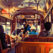Inside The St. Charles Ave Streetcar New Orleans Art Print